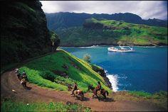 Horse riding in the Marquesas islands, French Polynesia ✯ ωнιмѕу ѕαη∂у