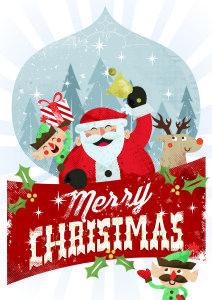 Merry Christmas - Santa Claus Postcard