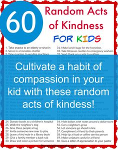 Acts of service don't have to be complicated. Teach your children a habit of compassion with these 60 random acts of kindness for kids! Kindness For Kids, Teaching Kindness, Kindness Activities, Activities For Kids, Kindness Ideas, Parenting Articles, Parenting Hacks, Kindness Matters, Christian Parenting