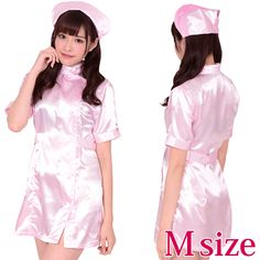 Nurse Costume, Nursing Clothes, Costumes For Women, Silk Satin, Traditional Outfits, Asian Girl, Halloween Costumes, Elegant, Lady