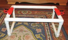 diy rug hooking frame by Judy Taylor