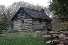 1850 Pioneer Farm log cabin