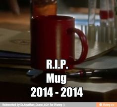 Only the flash fans will understand the love of the red mug. It's so sad Joe murdered it.