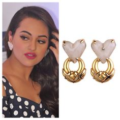 Sonakshi Sinha looks gorgeous in our vintage Givenchy dangle heart earrings!