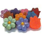 Pick a flower soap.  You get to pick your flower shape, color, fragrance, and if you want glitter or not. Makes a great gift for Mothers Day!