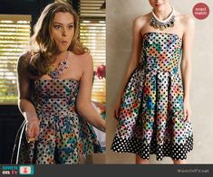 6c8ac7363b AnnaBeth s floral and polka dot print strapless dress on Hart of Dixie