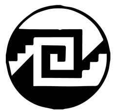 """I like the overall dimensions and geometric ladder being the same. Into Pialic Into Chimalli symbol, is the Aztec Ying Yang. It also translates into """"My culture, my shield. Aztec Symbols, Mayan Symbols, Viking Symbols, Egyptian Symbols, Viking Runes, Ancient Symbols, Chicano Drawings, Chicano Art, Chicano Tattoos"""