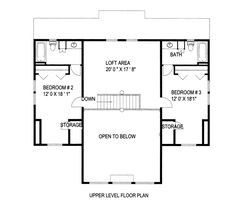 House Plan 85325 Level Two