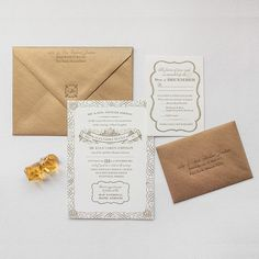 Orleans   Lucky Luxe Couture Correspondence   Letterpress Wedding Stationery