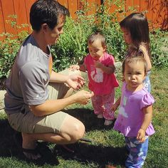 Enjoying the fruits of their labor in the garden with daddy! #veggielovers #itsjudyslife @itsjudytime
