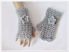 Crochet fingerless gloves Crochet gloves by RossiDesignsBoutique