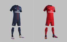Camisas do PSG 2016-2017 Nike