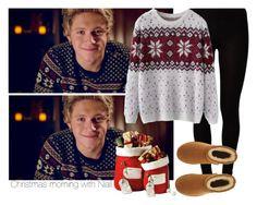 """Christmas morning with Niall"" by maaaaddiiiii ❤ liked on Polyvore featuring Majestic, Chicnova Fashion and UGG Australia"