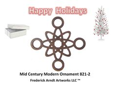 Mid Century Modern Ornament 8212 by FredArndtArtworks on Etsy, $14.95