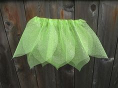Flower Petal Fairy Skirt- Green Sparkle-Size M $7