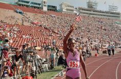 At the Los Angeles Games in 1984, Valerie Brisco-Hooks becomes the first woman to win the 200m and 400m in the same Olympics. She was also a part of the 4x400m relay team that won gold. In 1988, she earned silver in the 4x400m relay.