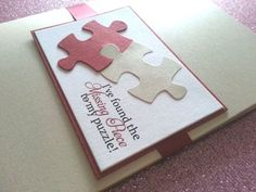 Puzzle Piece Wedding Invitations as to make your Wedding Invitation design more adorable Unique Wedding Invitations, Custom Wedding Invitations, Wedding Invitation Cards, Wedding Cards, Puzzle Crafts, Handmade Birthday Cards, Puzzle Pieces, Simple Weddings, Puzzles