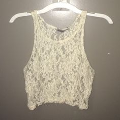 Full Lace Crop Top All Lace looks great with a bandeau Charlotte Russe Tops Crop Tops