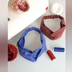 Diy Hair Scrunchies, Diy Hair Bows, Sewing Hacks, Sewing Tutorials, Sewing Crafts, Diy Crafts Hacks, Diy Crafts For Gifts, Fashion Sewing, Diy Fashion