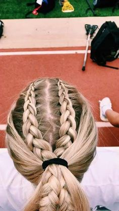 hairstyles half up to easy braided hairstyles braid hairstyles to cute braided hairstyles hairstyles man bun hairstyles hairstyles prom braided hairstyles for black hair Track Hairstyles, Athletic Hairstyles, Cute Braided Hairstyles, Cool Hairstyles, Cute Sporty Hairstyles, Sport Hairstyles, Wedding Hairstyles, Workout Hairstyles, Princess Hairstyles