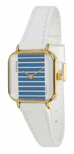 Pedre Women's Petite Vintage Leather Strap Watch # P6726GX Pedre. $14.95. Genuine leather strap with embossed stripes; Includes gift box and lifetime limited warranty; Precision Japanese quartz movement; Petite case design measures just 21 x 21mm; For smaller wrists (up to 6.5 inches) only. Save 80% Off!