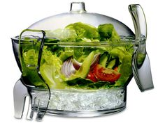 Keep salad of any kind fresh and chilled in the Cold Bowl on Ice. The Cold Bowl on Ice has a bottom compartment for storing cubed or crushed ice. The serving bowl is vented allowing More Details Kitchen Items, Kitchen Utensils, Kitchen Gadgets, Kitchen Decor, Kitchen Stuff, Kitchen Tools, Kitchen Products, Kitchen Dining, Kitchen Appliances