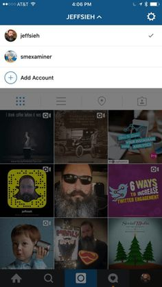 instagram account switching