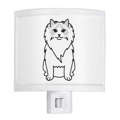 Ragdoll Cat Cartoon Night Light