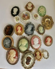 Faux Cameo Brooch Lot Vintage & Newer by jewelryannie on Etsy