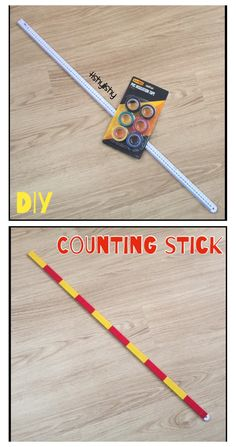 Counting stick = meter rule and insulation tape.