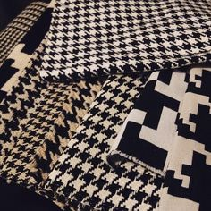 Found the perfect #houndstooth for the two sculptural chairs for #lostandfoundfurniture thanks to #PindlerFabric #perfection #blackandwhite #justright #fabric #reupholstery #redesign #furniture #interiordesign #interiors #instagood #kirodesign