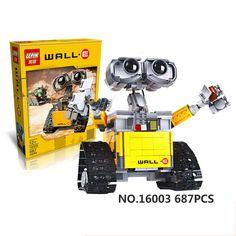 Lepin 16003 687 Pieces Idea Robot WALL E Building Blocks Bricks Blocks Toys for Children WALL-E Birthday Kids Gifts