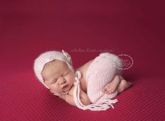 Evelyn Bonnet and Pant Knit Set Newborn by BriesYarnCreations, $64.00