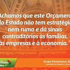 Palavras do Grupo Parlamentar do PSD no Debate do Orçamento do Estado para 2016 na Especialidade com o Ministro das Finanças. #PSD #acimadetudoportugal