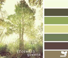 Forest greens color palette