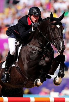 Ben Maher and Tripple X III. Beautiful color #olympics2012 #showjumping