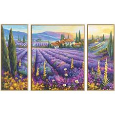 Schipper Lavender Fields Paint-by-Number Kit - Herrschners Number Crafts, Number Art, Paint By Number Kits, Large Painting, Fabric Painting, Provence, List Of Paintings, Field Paint, Mosaic Crosses