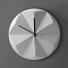 Amazon|クリエイティブファッションセラミック幾何学的な花弁アートの壁時計リビングルームの寝室オフィスの壁の装飾シンプルな壁時計、33.5 * 33.5 * 4.5センチメートル ( 色 : ブラック )|置き時計・掛け時計 オンライン通販