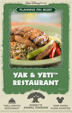 Walt Disney World Planning Pins: Yak & Yeti Restaurant