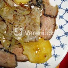 Fotografie receptu: Pečené rybí filé po švédsku Pork, Meat, Kale Stir Fry, Pork Chops