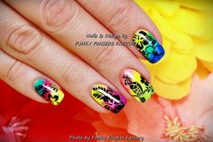 Gelish Tropical nails by FUNKY FINGERS FACTORY