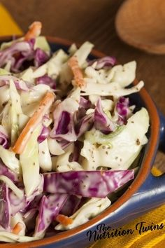 Confetti Coleslaw with Sweet Tahini Dressing | SO Delish! | Energy Boosting Nutrients | Protein & Fiber to keep you satisfied | For MORE RECIPES please SIGN UP for our FREE NEWSLETTER www.NutritionTwins.com