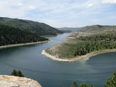 Part of the Narrows of Strawberry Reservoir, Utah from the Strawberry Narrows Trail