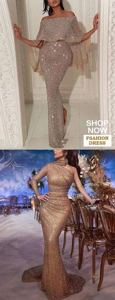 Your New Look Robe de soir/ée avec paillettes scintillantes pour femme
