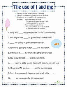 I Vs Me Worksheet 1 | Free Primary Classroom Resources | Pinterest ...