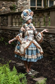 OTT Lolita / Hime Lolita Rococo inspired outfit by OSO Right, OSO Wrong. Currently selling for $700 on Etsy.