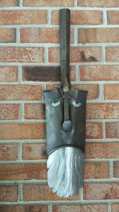 Shovel head metal art by Mike Davis.