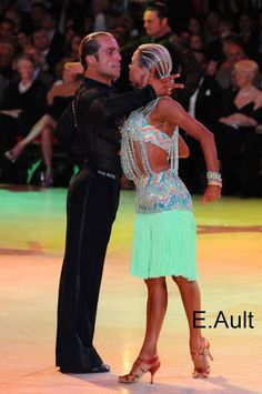 Riccardo and Yulia at the British Championships, Blackpool, Rumba. Visit http://ballroomguide.com/workshop/latin.html for info about Latin workshops from the pros.