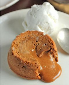 Just as sexy as chocolate spilling out of a lava cake, this molten dulce de leche brings a whole new flavor profile to the delicious dessert.