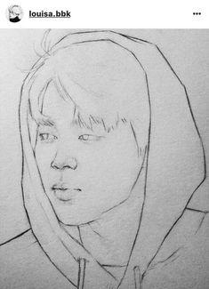 Park Jimin BTS fanart credit to the artist Jimin Fanart, Kpop Fanart, Kpop Drawings, Pencil Art Drawings, Art Drawings Sketches, Bts Jimin, Manga Anime, Anime Art, Bts Chibi